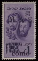 Italia: R.S.I. -  25 C. Violetto - F.lli Bandiera - M.A.S. Como (Emissione Privata) - 1945 - 4. 1944-45 Repubblica Sociale