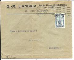 BRUXELLES   Enveloppe  ( Cover ) G. - M D'Andria  ( Import Export )  Timbre Perron De Liège - Belgium