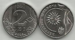 Moldova 2 Lei  2018. UNC - Moldavie