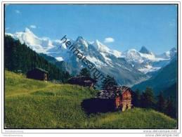 St. Luc - L' Alpage Des Moyes Avec Le Rothorn - Obergabelhorn Et Le Cervin - VS Valais