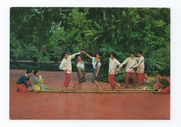 PHILIPPINES 1970years Postcard TINIKLING VISAYAN ISLANDS DANCE FOLK FOLKLORE - Philippines