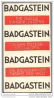 Badgastein 1932 - Faltblatt Mit 11 Abbildungen - Oesterreich