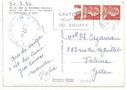 CAUTERETS 1956 / Paire N° 1009A (Roulette) Sur Carte Postale - Covers & Documents