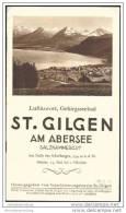 St. Gilgen 1931 - 20 Seiten Mit 40 Abbildungen - Lageplan Gezeichnet Von Ludwig Feitzinger 1927 - Oesterreich
