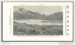 Mondsee 1931 - Faltblatt Mit 6 Abbildungen - Hotel- Und Gasthof-Verzeichnis - Oesterreich