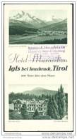 Igls 1932 - Hotel Maximilian- Faltblatt Mit 9 Abbildungen - Oesterreich