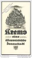 Krems An Der Donau 1930 - Faltblatt Mit 15 Abbildungen - Lageplan - Oesterreich