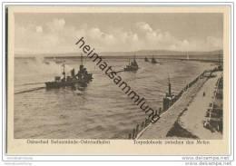 Ostseebad Swinemünde-Osternothafen - Torpedoboote Zwischen Den Molen - Pommern