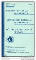 Schwedische Hotels Und Restaurants 1932 - 130 Seiten - Schweden