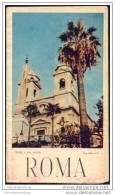 Roma 1954 - Faltblatt Mit 7 Abbildungen - Stadtplan - Wissenswertes Für Den Touristen - Italia