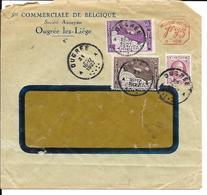 OUGRÉE   Enveloppe   ( Cover )   Ste Commerciale De Belgique  ( Timbre Caritas + Perfins ) 1927 - Belgium
