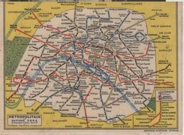 00133 PARIS CARTE METROPOLITAIN PLUS PUB AU DOS SOCIETE GENERALE - Europe