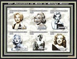 MARILYN MONROE - Mozambique 2002, 40º Aniversario Da Sua Morte / Imperf. -  MNH - Cinema