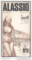 Alassio 1976 - Stadtplan - Touristeninformation - 8 Seiten Mit 4 Abbildungen - Italia