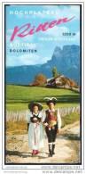 Hochplateau Ritten 1973 - Faltblatt Mit 17 Abbildungen - Reliefkarte/Matthias - Italia