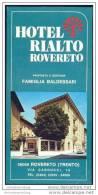 Rovereto 60er Jahre - Hotel Rialto - Faltblatt Mit 8 Abbildungen - Italia