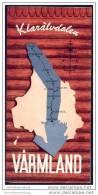 Schweden - Värmland 1964 - Faltblatt Mit 10 Abbildungen - Schweden