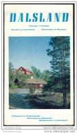Schweden - Dalsland 60er Jahre - Faltblatt Mit 12 Abbildungen - Schweden