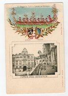 0925 F. Ongania Calli E Canali In Venezia 1900s With Stamping: Emblems And Boats.Torre Dell'Orologio - Venezia (Venice)