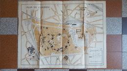 CARTE PLAN ANCIEN DE LA VILLE DE CAMBRAI NORD CHEMINS DE FER TRAMWAYS ELECTRIQUES ET MONUMENTS DIVERS - Maps