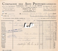18401-3-0610       1943  ARTS PHOTOMECANIQUES PARIS 15E  - GAREL BAZAR LA BOURBOULE 63 - France