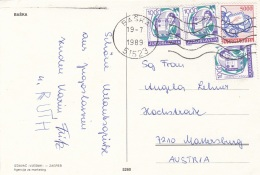 JUGOSLAWIEN - 4 Fach Frankierung Auf Ak BOZDRAV IZ BASKE - 1945-1992 Sozialistische Föderative Republik Jugoslawien