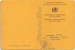 AUSWEIS Der WORLD HEALTH ORGANIZATION 1962 - 1,50 S Stempelmarke - Historische Dokumente