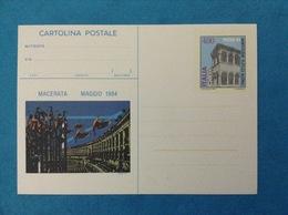 1984 ITALIA CARTOLINA POSTALE NUOVA PICENA 84 MANIFESTAZIONE FILATELICA NAZIONALE - Entiers Postaux