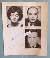 Ruth HESSE Chanteuse D'Opéra & Georg PASKUDA Ténor Autographes Allemagne Singers Wuppertal  Munchen - Autographes
