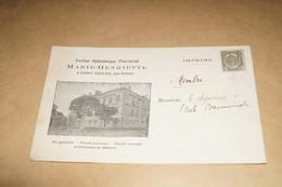 Saint-Servais,institut Ophtalmique Provincial Marie Henriette,envoi à Membre En 1907 - Namur