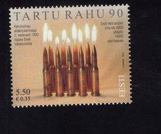 614175316 ESTLAND ESTONIA 2010 ** MNH  SCOTT 633 TARTU PEACE TREATY 90TH ANNIV - Estonie