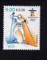 614175490 ESTLAND ESTONIA 2010 ** MNH  SCOTT 635 WINTER OLYMPICS VANCOUVER - Estonie