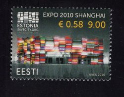 614176165 ESTLAND ESTONIA 2010 ** MNH  SCOTT 637 ESTIONA PAVILIION EXPO 2010 SHANGHAI - Estonie