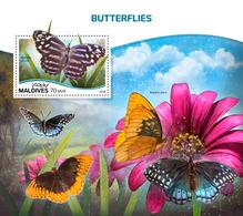 MALDIVES 2018 - Butterflies S/S Official Issue - Schmetterlinge