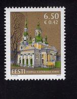 614176624 ESTLAND ESTONIA 2010 ** MNH  SCOTT 639 ST CATHERINE S CHURCH PARNU - Estonie