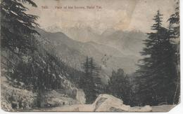 VIEW OF THE SNOWS NAINI TAL INDIA WITH  SEA POST OFFICE POSTMARK - India