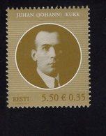 614176756 ESTLAND ESTONIA 2010 ** MNH  SCOTT 640 JUHAN KUKK STATE ELDER - Estonie