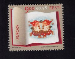 614177284 ESTLAND ESTONIA 2010 ** MNH  SCOTT 643 644 EUROPA CHILDREN S BOOK ILLUSTRATIONS - Estonie