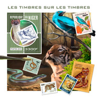NIGER 2018 - Bird On Stamp S/S. Official Issue - Songbirds & Tree Dwellers