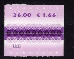 614178010 ESTLAND ESTONIA 2010 ** MNH  SCOTT 650 FABRIC DESIGN - Estonie