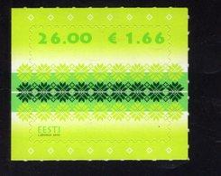 614178136 ESTLAND ESTONIA 2010 ** MNH  SCOTT 646 FABRIC DESIGN - Estonie