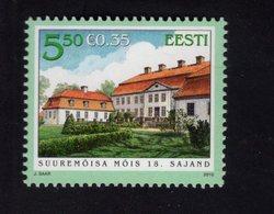 614178544 ESTLAND ESTONIA 2010 ** MNH  SCOTT 648 MANOR SUUREMOISA HALL - Estonie