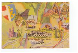 38 Carte Géographique Isère La Grande Chartreuse Et Le Gresivaudan Voiron Pontcharra Touvet - Unclassified