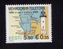 614181826 ESTLAND ESTONIA 2011 ** MNH  SCOTT 674 VERGI LIGHTHOUSE - Estonie