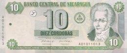 Nicaragua 10 Cordobas, P-191 (2002) - UNC - Nicaragua