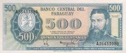 Paraguay 500 Guaranies, P-206 (1982) - UNC - Paraguay