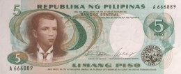 Philippines 5 Piso, P-143a (1969) - UNC - Philippinen