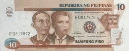 Philippines 10 Piso, P-187b (1998) - UNC - Philippinen