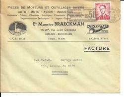 BRUXELLES   Enveloppe   ( Cover )   Ets Maurice Braeckman - Cars
