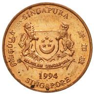 Monnaie, Singapour, Cent, 1994, Singapore Mint, TB+, Copper Plated Zinc, KM:98 - Singapour
